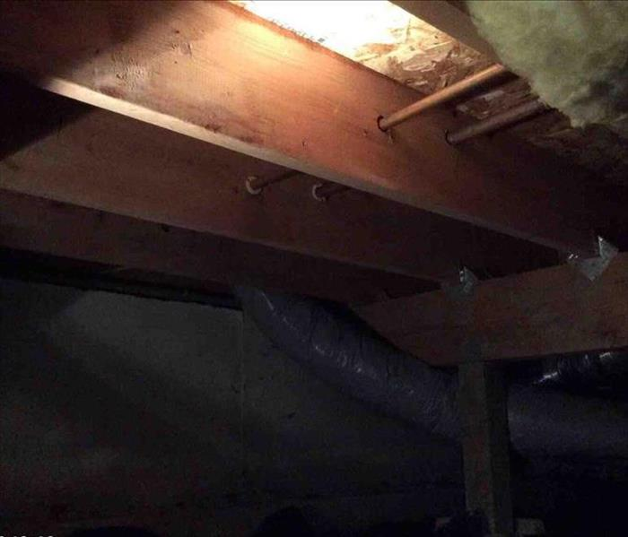 Crawl Space flood in the Pacific Northwest After